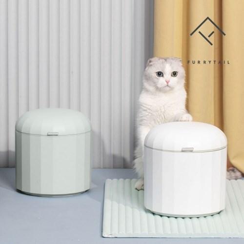 퓨리테일 고양이 강아지 반려동물 습기차단 사료보관통