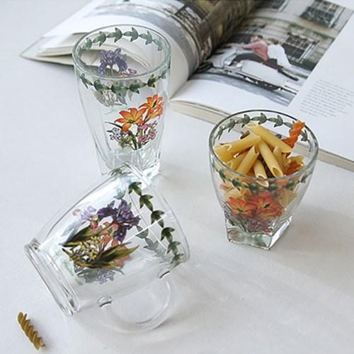 야생화 유리컵 3size