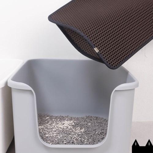 스타캣 고양이 모래매트_다크브라운(대형60cmX70cm)