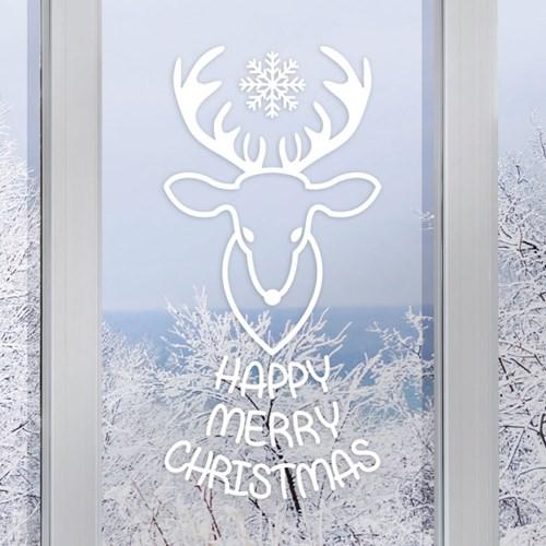 헌팅트로피 해피 메리 크리스마스 겨울 인테리어스티커