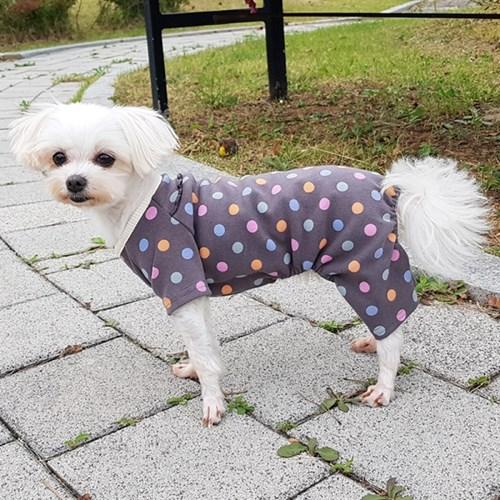 비타민 강아지올인원 애견옷 신축성 짱 입고 벗기 편한 애견실내복