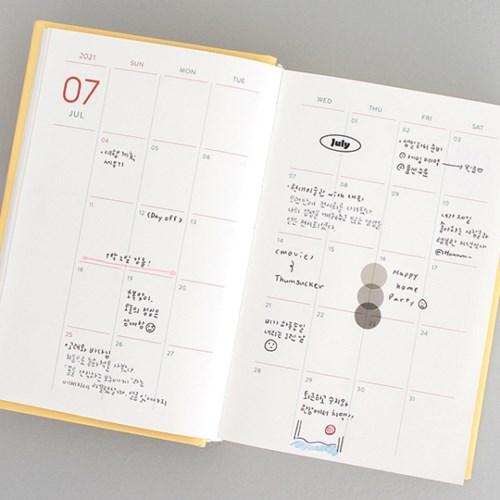 2021 프리즘 데일리 다이어리(날짜형,365일)