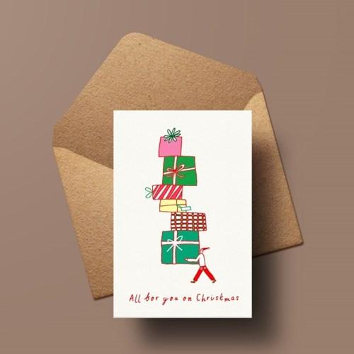 캘리엠 XVM3015 ALL FOR YOU ON CHRISTMAS 크리스마스카드
