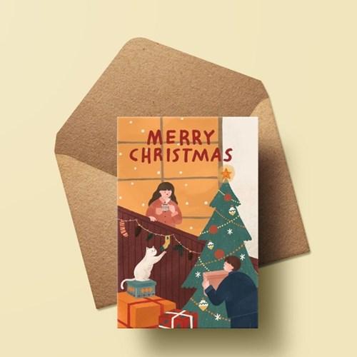 캘리엠 XHH3003 MERRY CHRISTMAS 크리스마스카드