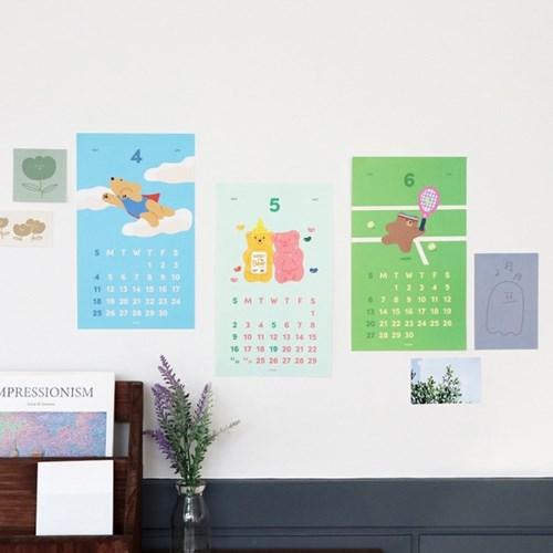 아이코닉 2021 메리 포스터 캘린더