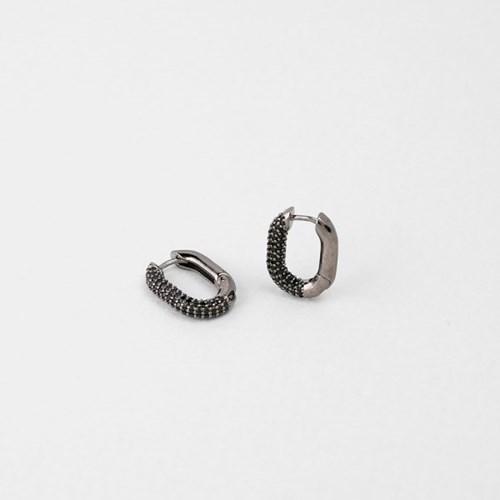 [쥬디앤폴] 제프리 미니 블랙 크리스탈 에보니 링 귀걸이 E51655