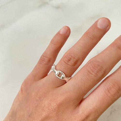 니체 실버 프리사이즈 반지 남녀공용 커플 우정 링
