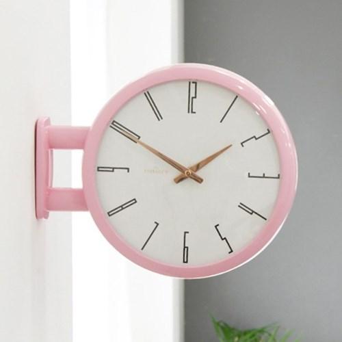 (ktk168)저소음 모던핑크 양면시계 A7_(1279586)