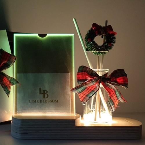 라임블러썸 크리스마스 선물 무드등 디퓨저+선물박스 세트