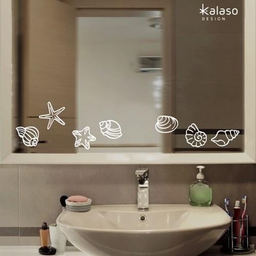 욕실 데코스티커 _ 조개껍질과 물방울