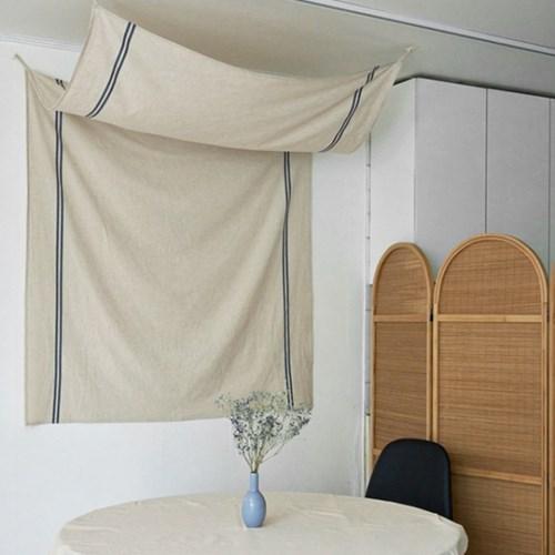 블랭크 햄프린넨 침대 캐노피 / 패브릭포스터 (RM 303001)