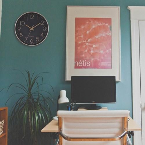 아날로그 인테리어 무소음 벽걸이 시계 GW002-BR