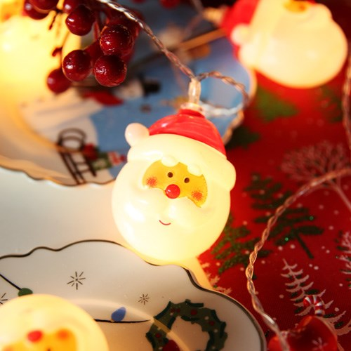 LED 20P 크리스마스 큐티 가랜드 - 산타