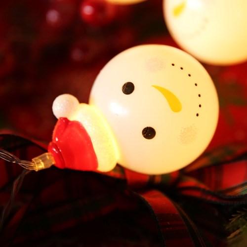 LED 20P 크리스마스 큐티 가랜드 - 눈사람