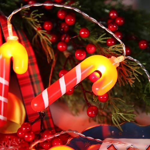 LED 20P 크리스마스 큐티 가랜드 - 캔디지팡이