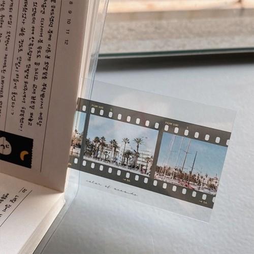 필름 책갈피 카드 - 해변의색, 숲의색