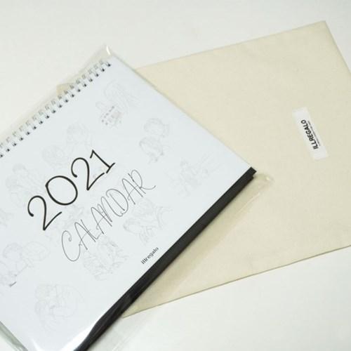[일레갈로] 2021년 영화드로잉 탁상 데스크 달력
