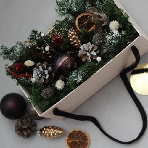 프리저브드꽃 크리스마스 플라워 기프트박스
