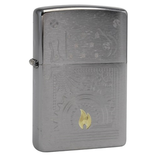 ZIPPO 라이터 49419 Brushed Chrome Auto Two Tone_(2689723)