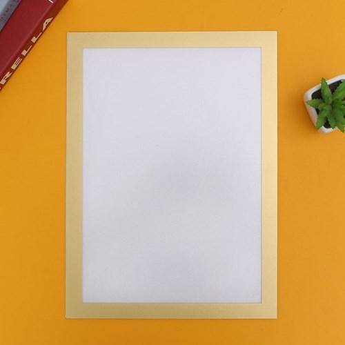 A4 초간단 자석프레임 광고 알림판(24x32.5cm) (골드)