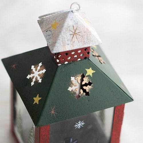 크리스마스 캔들 랜턴(사각)