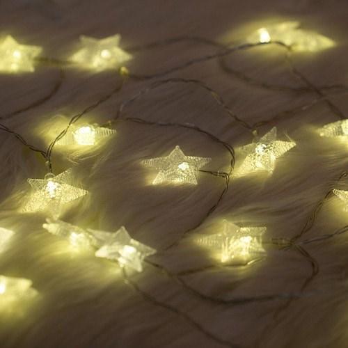 [데코봉봉]LED별 전구 30구 (옐로우, 4m-건전지형)