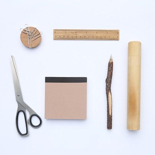 특이한 잔가지 나무 볼펜 블랙 0.5 mm (랜덤발송)