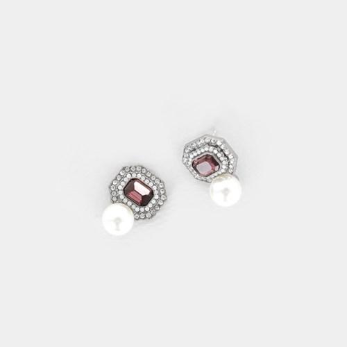 [쥬디앤폴] 브리 가넷 진주 귀걸이 E51700