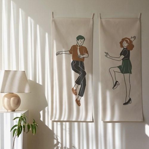 댄스댄스 세로형 패브릭 포스터 / 바란스커튼