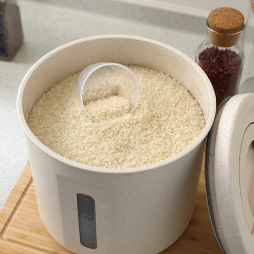 에코 밀폐 원형 쌀통 5kg