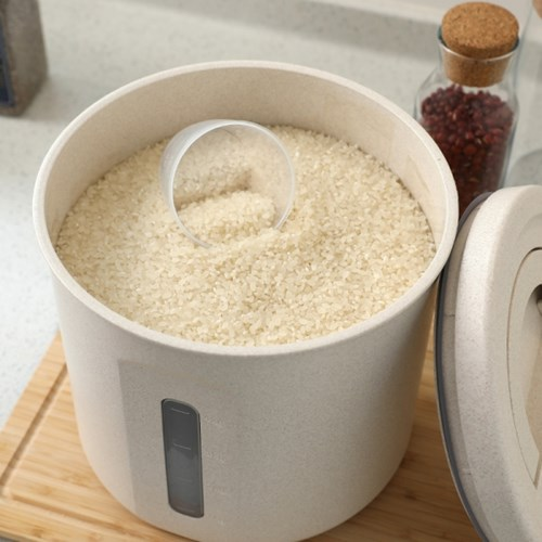 에코 밀폐 원형 쌀통 10kg