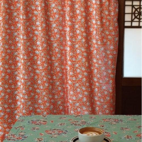 [만옥]만다린호텔 가리개 커텐 m 유니크 빈티지 식탁보 홍콩 커튼