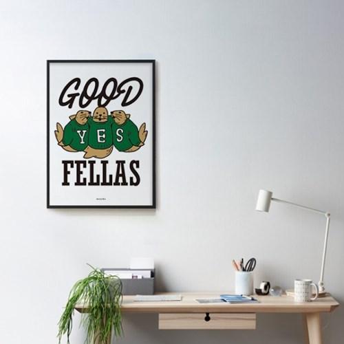 좋은 친구들 M 유니크 인테리어 디자인 포스터
