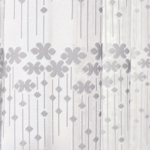 제이픽스 호텔식 꽃무늬 2배 나비주름 쉬폰커튼 150x230cm1+1 2장