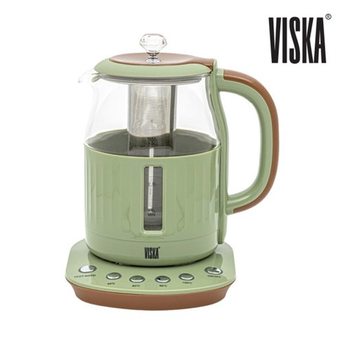 비스카 1.5L 마이키친 유리 티포트 VK-T207GK 색상 택1