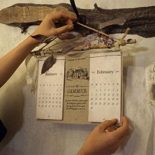 2021 JAMMER fabric calendar : 잼머 패브릭 캘린더