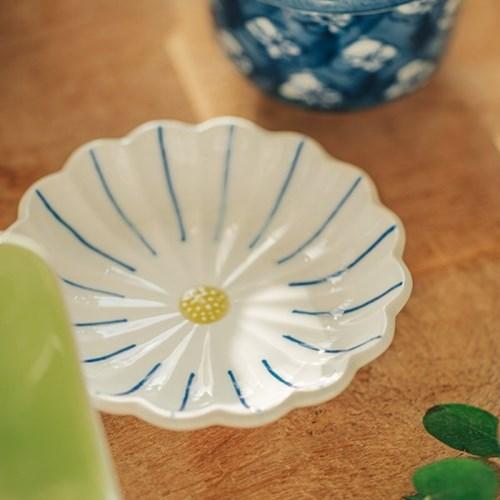 데이오프 도자기 국화꽃 작은 앞 디저트 접시_(1844553)