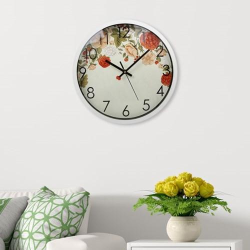 파인아트 플라워 원형 벽시계 / 인테리어 벽걸이시계