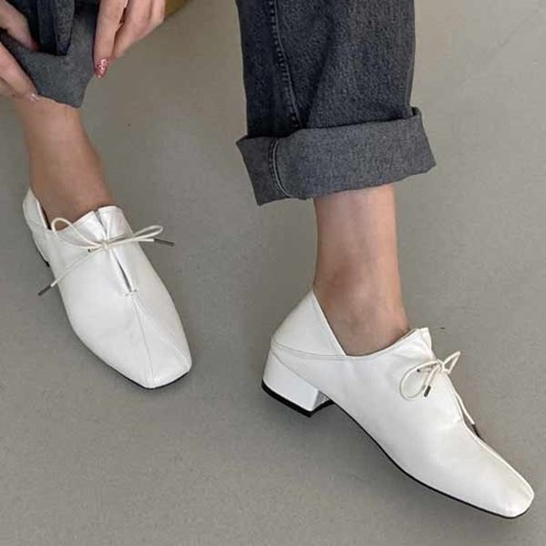kami et muse Ribbon top low heel loafers_KM20w314