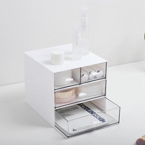 3단 데스크 서랍형 사무실 책상 정리 화장 소품 수납함 3color