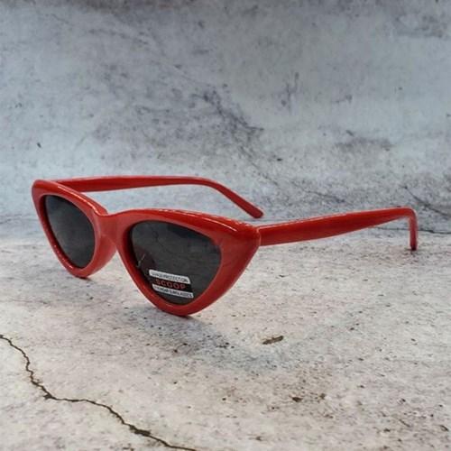 도수없는 가벼운 블랙 레드 데일리 패션 선글라스