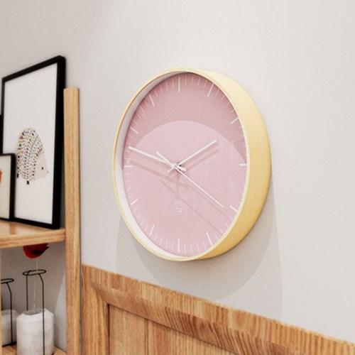 자작나무 코랄브러쉬 무소음벽시계