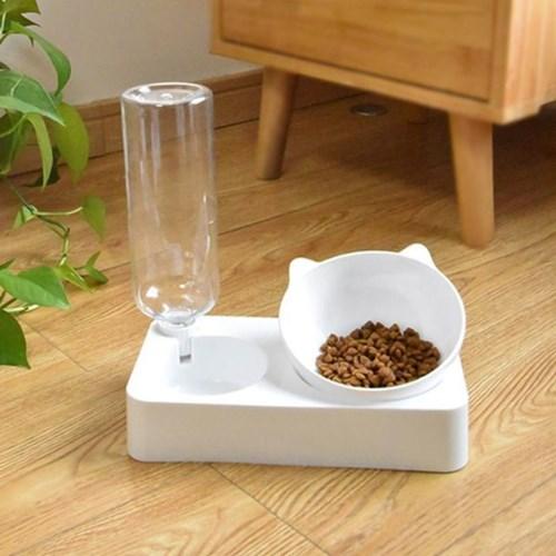 강아지 고양이 자동급수기 2구세트 급식기 밥 물그릇