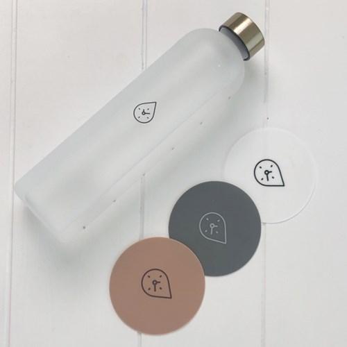 미쓰달봉 국산 원형 엠보싱 실리콘 컵받침 티코스터