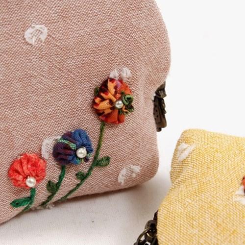 퀼트패키지 - 밀크 동전지갑 세트(핑크+옐로우)