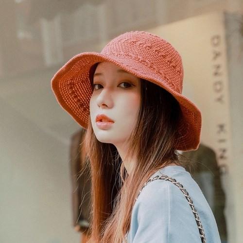 [무배] 봄 여름 여성 니트 와이어 벙거지 버킷햇 C506