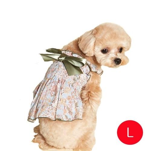 강아지 로코코 고무밴드 원피스 그린 L