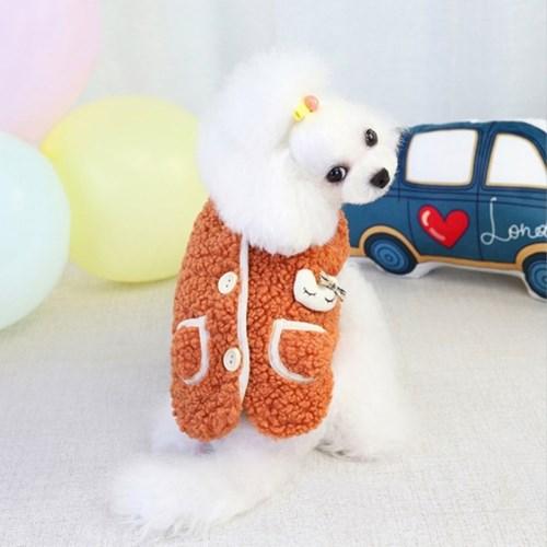 도그웨그 뽀글이 양털 조끼 강아지 실내복 겨울 옷