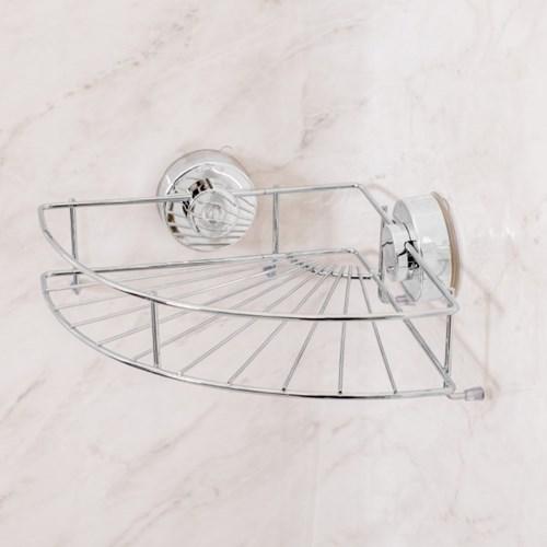 클린바스 흡착식 욕실 코너선반 화장실수납거치대