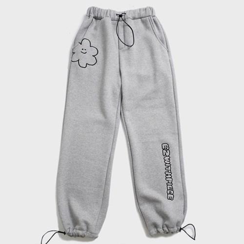 [EZwithPIECE] DAISY SWEAT PANTS (GREY)_(401264797)